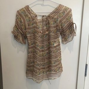 MARNI SILK SHEER TOP 38/XS